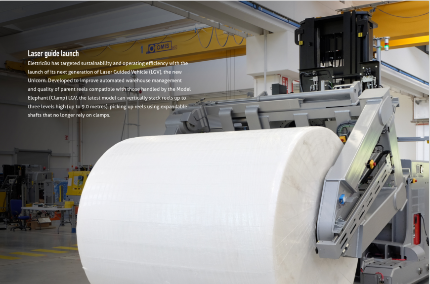Elettric80 launches next generation of parent roll handling